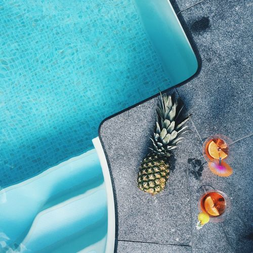 Summer Summertime Pool Poolside Taking Photos Relaxing Enjoying Life Hanging Out Luxury Lifestyles Life Blue Water Ananas Fruit Drinking Drinks Fruits Taking Photos Photography