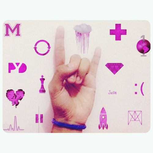 Justinbieber Symbols Journals Purple