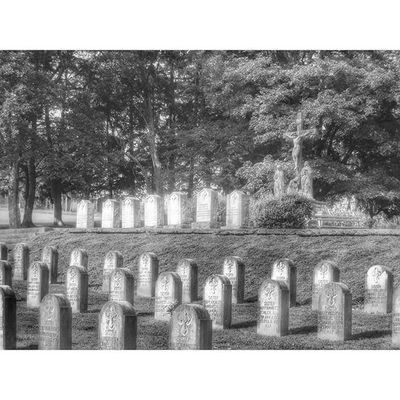 Sisters of Benedict cemetery in Atchison Kansas..... Ks_pride Kansasphotos Atchison Graveyarddead World_bnw Trb_bnw Bnw_life Bnw_captures Bnw_globe Bnw Blackandwhitephotos Blackandwhite