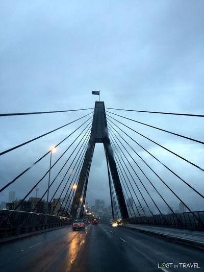 ANZAC Bridge Architecture Bad Weather Bridge Bridge - Man Made Structure Built Structure Car Connection Eastcoast Outdoors Road Sydney, Australia Transportation Travel