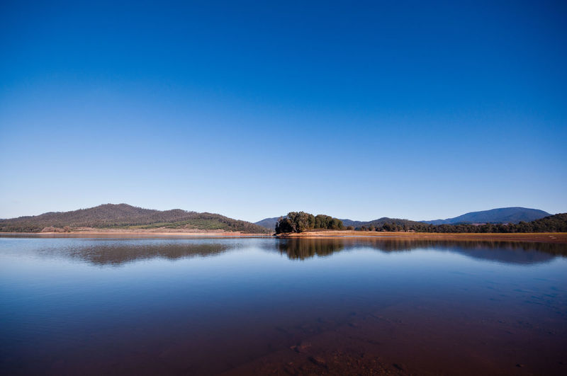 Lake Buffalo reflection Lake Lakeside Landscape Mount Buffalo Mount Buffalo National Park Blue Blue Water Blue Sky Blue Background Water Blue Lake Mountain Reflection Clear Sky Sky Countryside Tranquil Scene Calm Tranquility Scenics