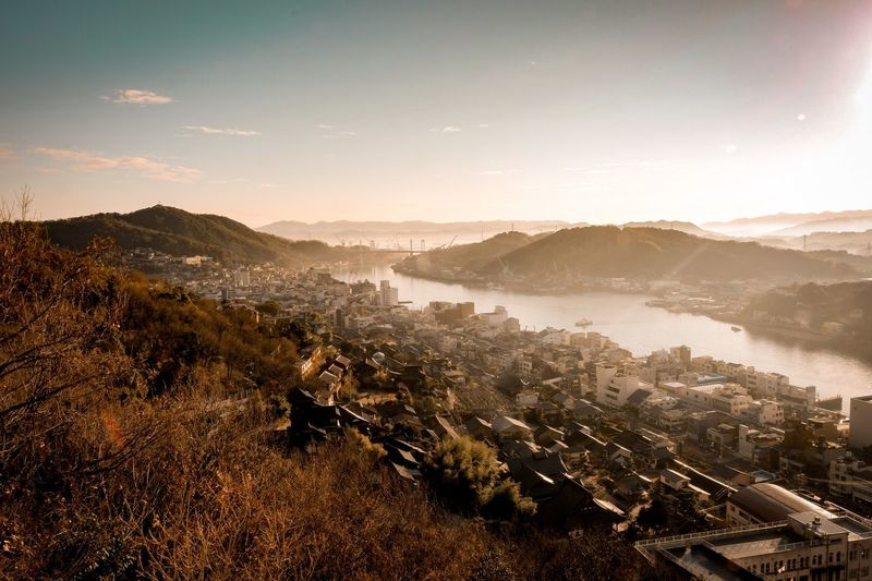 Morning in onomichi Sky Scenics - Nature Mountain Environment Nature Architecture Landscape City Tranquility