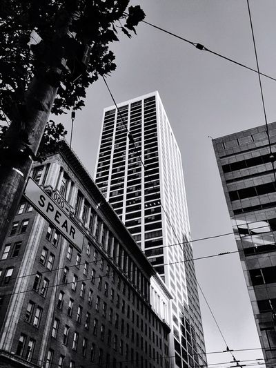 """""""Like a Spear"""" A tall building emerges spear like at Market and Spear streets in San Francisco, California. Architecture Architecture_collection Architecturelovers Blackandwhite Blackandwhite Photography Skyscrapers Urban Geometry Urbanphotography Urbanexploration San Francisco"""