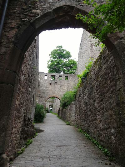 Arch Tunnel Footpath Architecture Built Structure Indoors  Day No People Sky Ancient Architecture Ancient Burg Alte Burg Castle Castle Gate Gate Eingang Baden Baden Baden-Baden