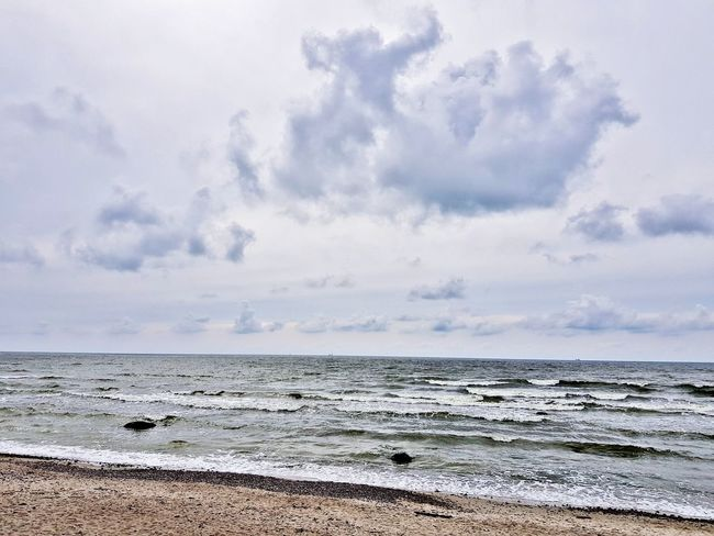 Beach Sea Sand Nature Landscape Beauty In Nature Outdoors Water Tranquility Day Cloud - Sky No People Horizon Over Water Scenics Wave Sky Beauty Low Tide Seascape