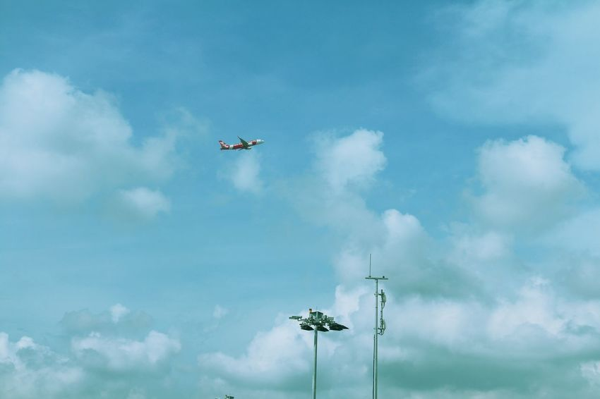 Air Asia Flight Air Asia Plane Airplane Airshow Cloud - Sky Day Flight Flying Mid-air No People Outdoors Sky