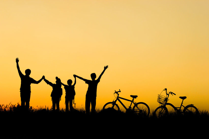 Care Happiness Life Love Nature SUPPORT Beside Field Group Of People Human Arm Independent  Lifestyles Nature Parents Prevent Silhouette Sky Success Sunset This Is Family Together