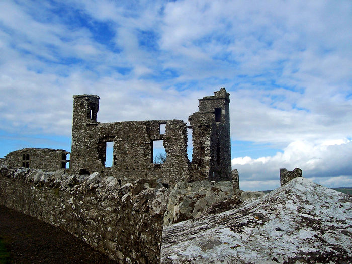 Blue Sky Celtic Church Church Ruins Clouds Europe Hill Of Slane Ireland Irish Ruins Saint Patrick Scenic Slane, Ireland Stone Religious Architecture