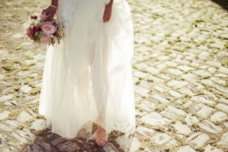Bride Wedding Light Beautiful Dress Enjoying The Sunset The Calmness Within Stone Pure Romantic www.julibild.de