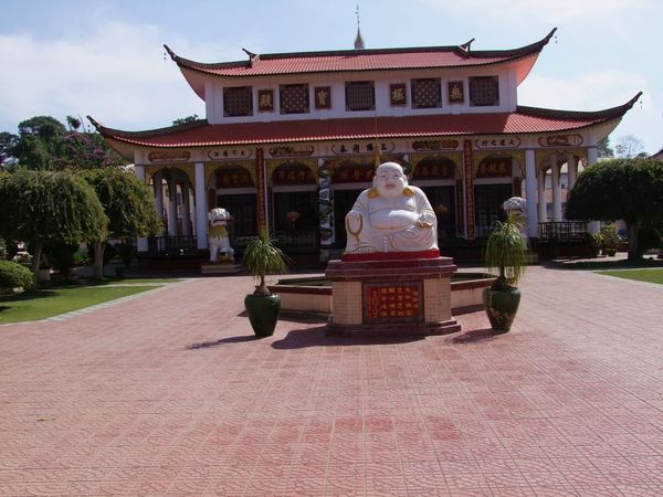 Chinese Temple Architecture Blue Sky White Clouds Buddha Chinese Chinese Culture Chinese Temple Maymyo Myanmar No People Place Of Prayer Place Of Worship Religion Statue Sunlight Trees