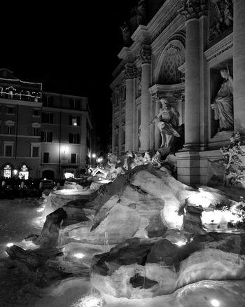 Fontana di trevi Moving Around Rome City Illuminated Architecture Building Exterior Sky Built Structure