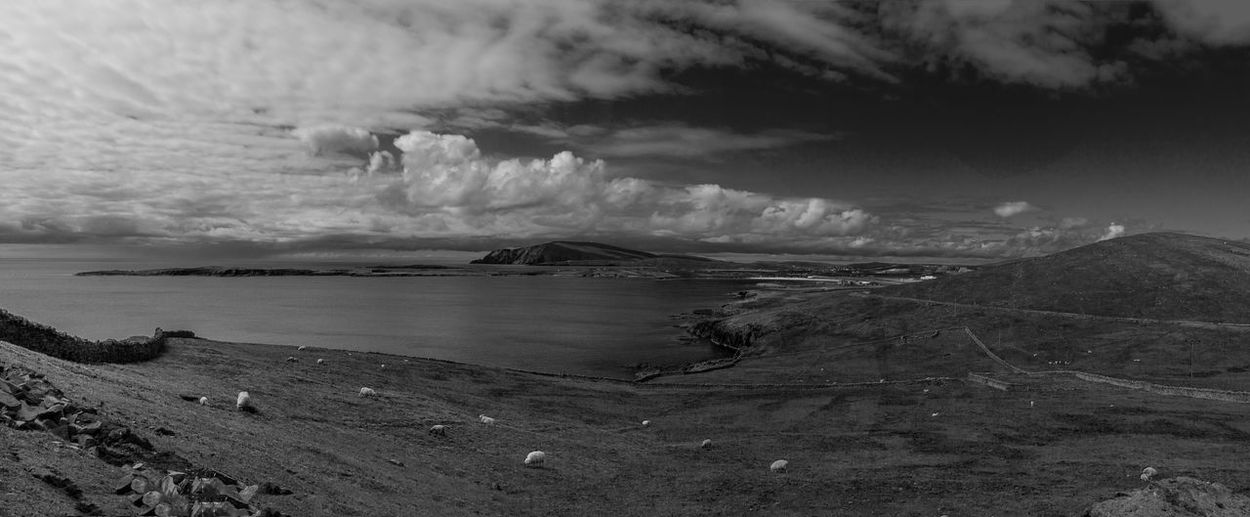 The view from Sumburgh Head on Shetland. Beauty In Nature Black And White Landscape Monochrome Nature Outdoors Scotland Shetland Sky Sumburgh Head Shetland