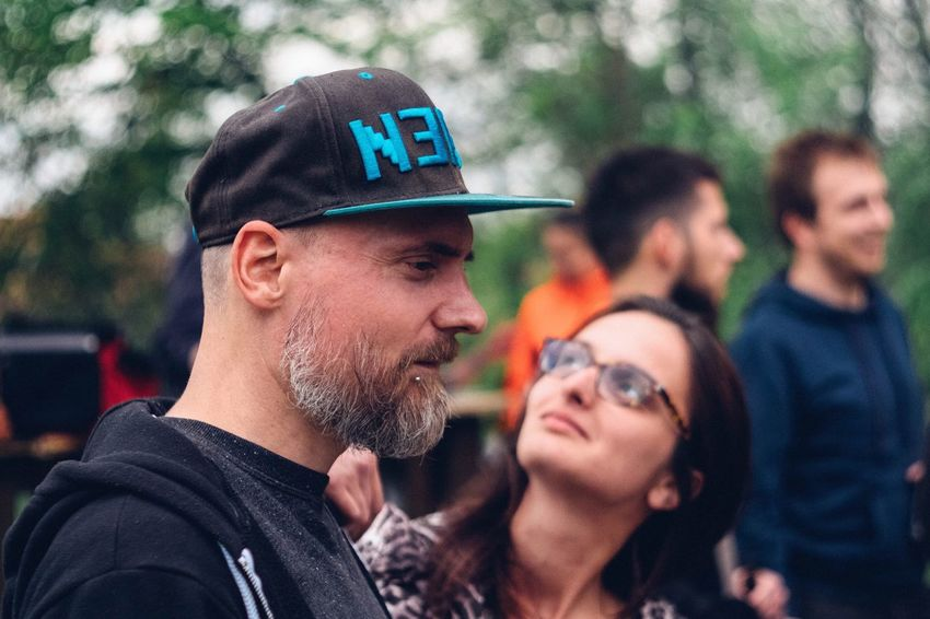 Real People Focus On Foreground Cap Outdoors Day Lifestyles Tree Young Adult Baseball Cap The Portraitist - 2017 EyeEm Awards Fujifilm_xseries Be. Ready. Human Connection