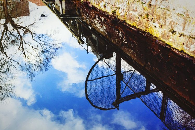 Which way is up? Prison Wall Barbed Wire Mirror Water Reflections Puddle Braunschweig Brunswick