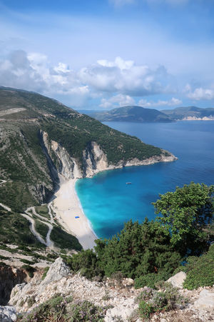 Myrtos beach, Kefalonia - Greece GREECE ♥♥ Greek Greek Islands Kefalonia Island Travel Bay Beach Blue Cloud - Sky Greece Greece Islands Idyllic Kefalonia Mountain Myrtos Beach Nature Non-urban Scene Scenics - Nature Sea Sky Tranquil Scene Tranquility Turquoise Colored Vacation Water