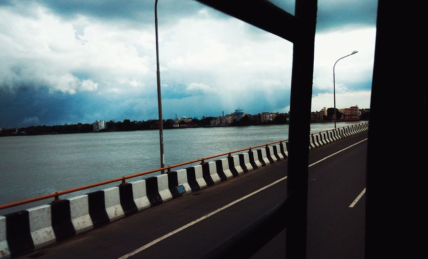MeinAutomoment Original Experiences Feel The Journey The Innovator Highway National Highway No. 2 Window View Storm Coming Dark Clouds And Sunshine Dark Clouds Over Water Bus Ride Home Showcase June Barrackpore Digha West Bengal