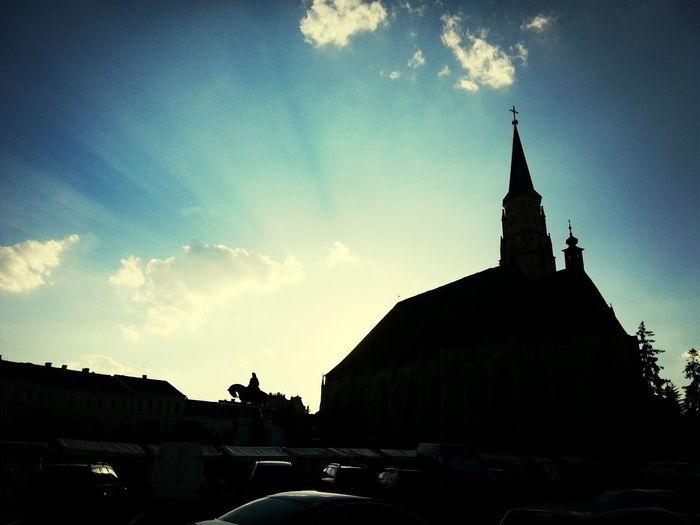 Backlight Square Horse Church