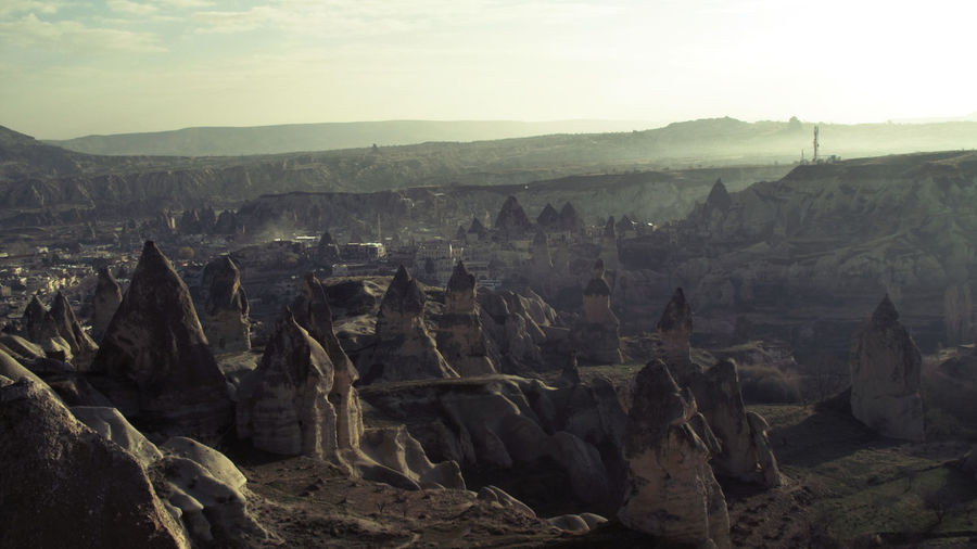 Cappadocia Travel Turkey Ancient Civilization Beauty In Nature Environment Eroded Formation Geology History Landscape Mountain Mountain Range Nature No People Non-urban Scene Outdoors Physical Geography Rock Rock - Object Rock Formation Rocks Scenics - Nature Sky Solid Tourism Tranquil Scene Tranquility Travel Destinations