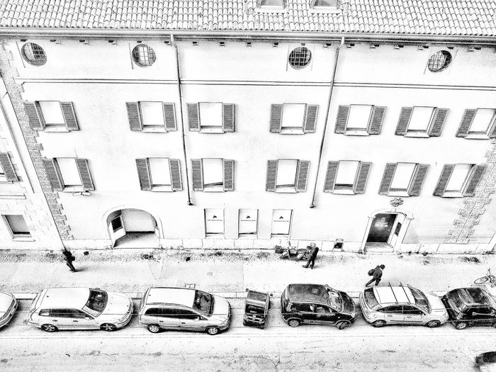 Via Santa Maria Fulcorina, Milano, Ottobre 2018 Blackandwhite Urban City Street From Above  Architecture Building Exterior Built Structure