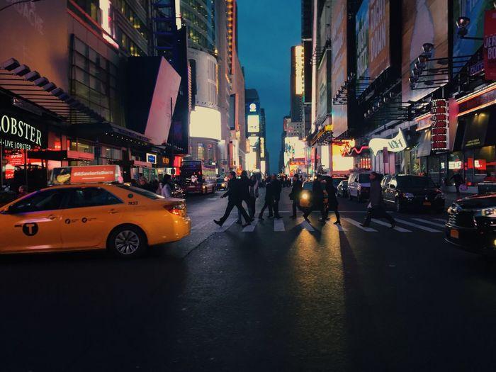 NYC Taxi City Night Lights EyeEm Selects