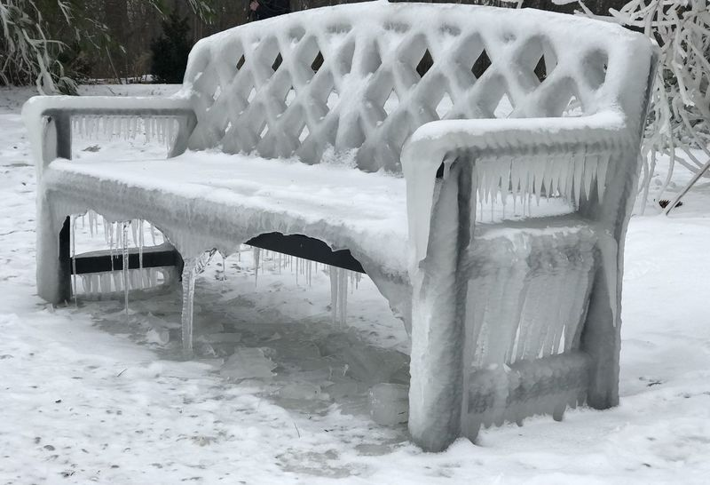 Bench Bench Seat Diamonds Icicles It's Cold Outside Shades Of Winter Chair Cold Temperature Day Field Have A Seat Myportcredit Nature No People Outdoors Seat Sit Down Snow View From Here Weather White Color Winter Winterwonderland Shades Of Winter