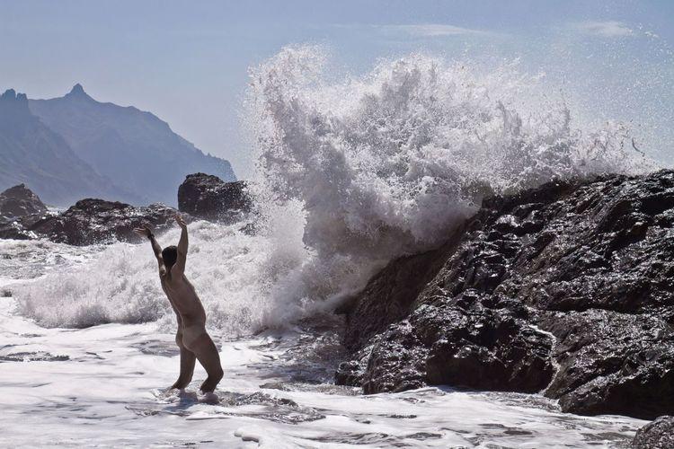 Die Leichtigkeit des Seins Relaxing People Outdoors Ozean