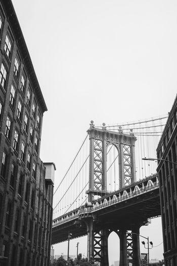 New York Architecture Bridge Building Exterior Built Structure City Connection Manhattan Bridge Outdoors Suspension Bridge
