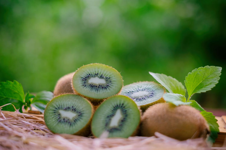 Close-up Cross Section Day Focus On Foreground Food Food And Drink Freshness Fruit Green Color Healthy Eating Kiwi Kiwi - Fruit Kiwifruit Kiwipics Leaf Nature No People Plant Part Selective Focus SLICE Still Life Wellbeing