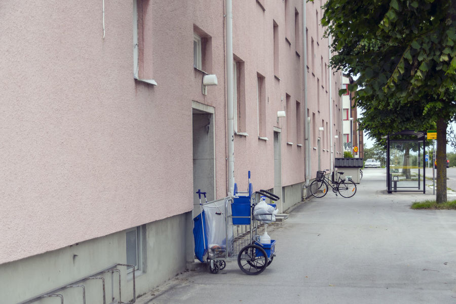 Architecture Bicycle Building Exterior Built Structure Cleaning Cleaning Equipment Day Feeling Land Vehicle Mode Of Transport No People Outdoors Sky Stationary Streetphotography Transportation Work