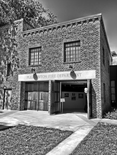 """""Old Pleasanton Fire House"" Firehouse Firedepartment Firefighter Fireman"