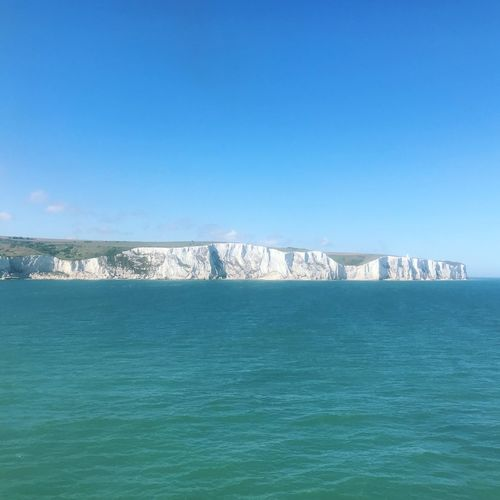 White Cliffs White Cliffs Of Dover Dover, England Water Sea Sky Blue Scenics - Nature Waterfront Copy Space Beauty In Nature Clear Sky No People Horizon Over Water