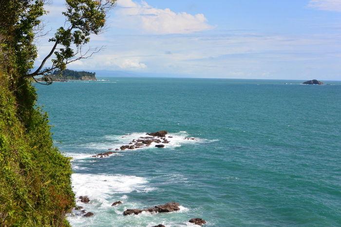 EyeEmNewHere Central America Clear Sky Costa Rica Ocean View Pura Vida Cliffside Ocean Pacific Ocean Relaxation Sunny Day