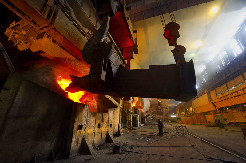 Man Working At Steel Mill