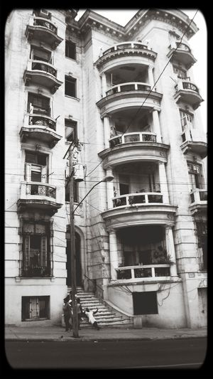Monochrome Cityscapes Old Buildings