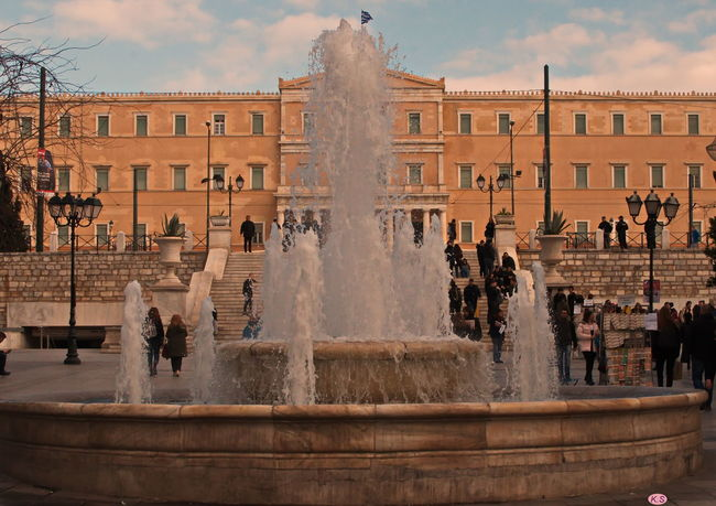 Athens Building Exterior City Cloud - Sky Day Fountain Greece Greek Parliament Outdoors Syntagma Square