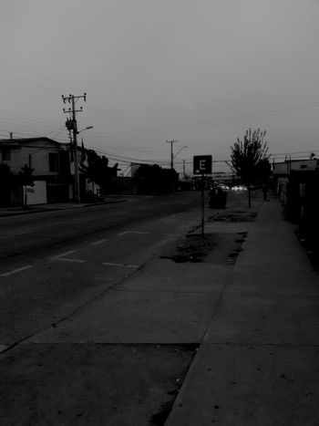 Mañana City Street Celular Good Morning Viña Del Mar Black And White Photography Street Barroco Austral Chile♥