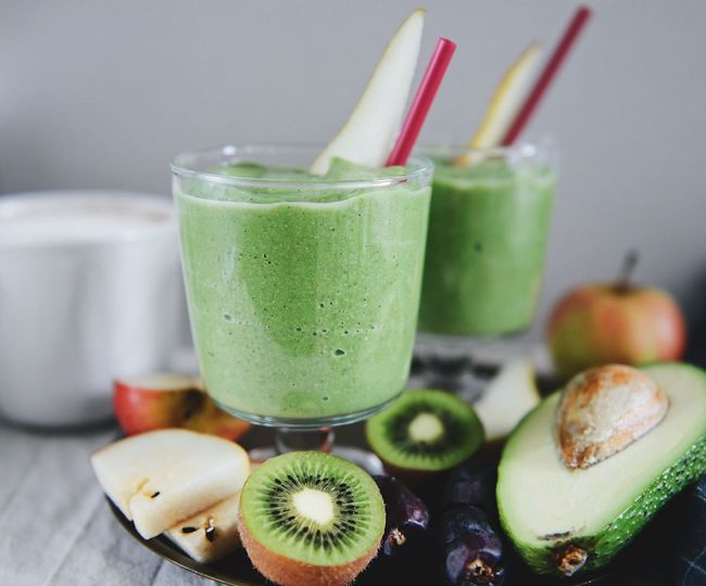 Food And Drink Food Fruit Healthy Eating No People Indoors  Green Color Wellbeing Freshness Kiwi Avocado Shamrock Smoothie Green Smoothie Fruit Smoothie