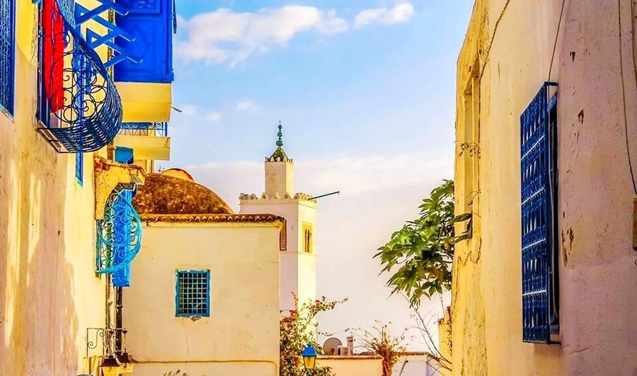 Mytunisia OpenEdit Clouds And Sky Street Photography Balcony Blueandwhite Windows Mosquee