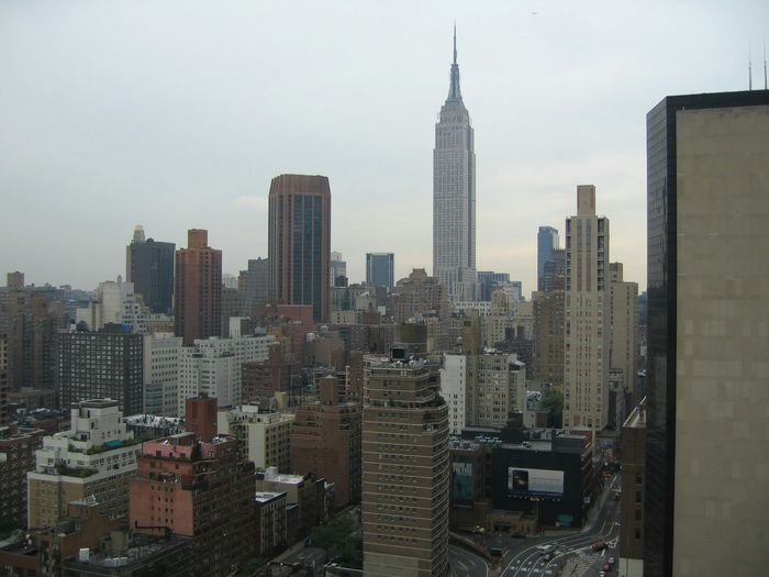 Manhattan Skyline With Empire State Building In Centre, New York City, New York State, Usa
