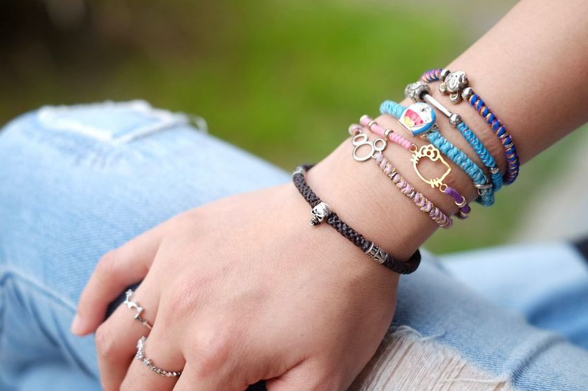 Human Body Part Adults Only Human Hand Tattoo Close-up One Person People Lifestyles Human Arm Adult One Woman Only Outdoors Only Women Day Bracelet Craft Porduct Cores Handmade Product Photography Women Multi Colored Arts Culture And Entertainment EyeEmBestPics Lieblingsteil