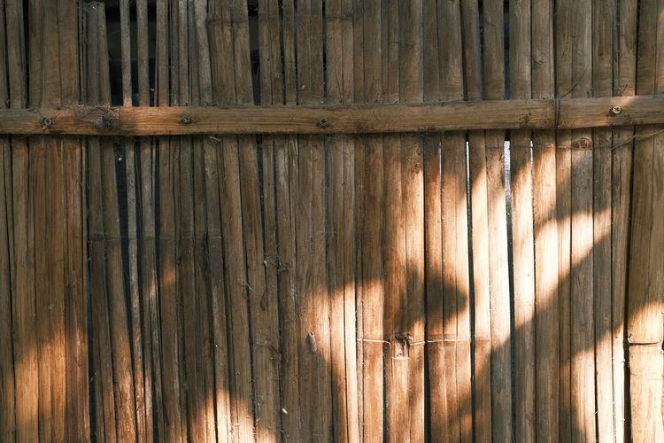 Full frame shot of old wooden fence