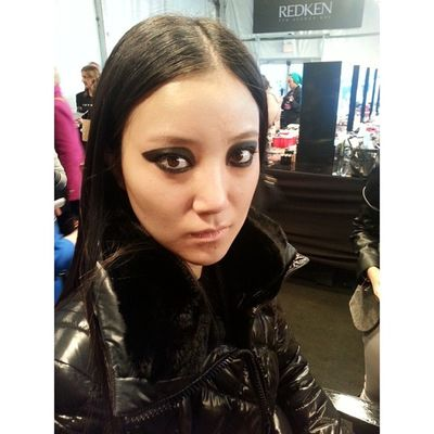 The smoky, dramatic eye for @vawkcollection done by the talented @graceleebeauty @maybellinecan Wmcfw Torontofashionweek Fashionweek Backstage beauty style fashion makeup instagood instamood toronto