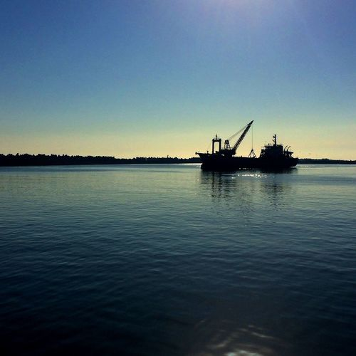 EyeEm Gallery IPhoneography Sea_collection Shillouette Port Vessel Morning