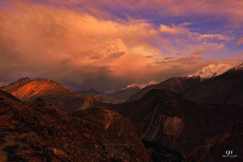 Don't forget to look back even if you are at Eagle Nest , Hunza Hunza Nagar  Gilgitbaltistan Ghalibhasnainphotography Mountains Clouds Pakistan Dawndotcom Ghalibhasnain