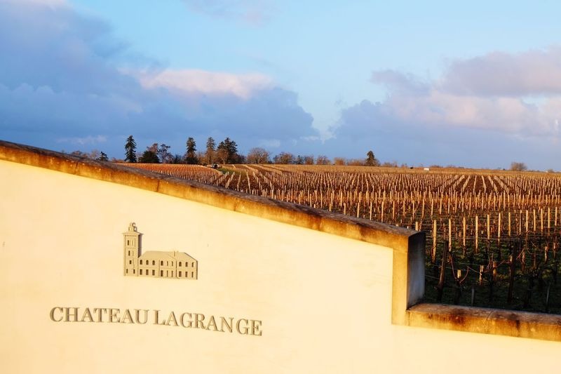 Chateau Lagrange Text Sky Building Exterior Cloud - Sky Architecture Built Structure No People Outdoors Day Nature Vineyard EyeEm Nature Lover EyeEm Best Shots Architectural Detail