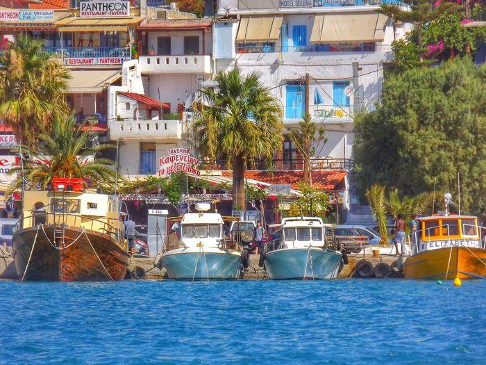 Agia Galini Agia Galini Greece Sea Boats Mer Bateaux Boots Griechenland Grece See Houses Maisons Crete Kreta