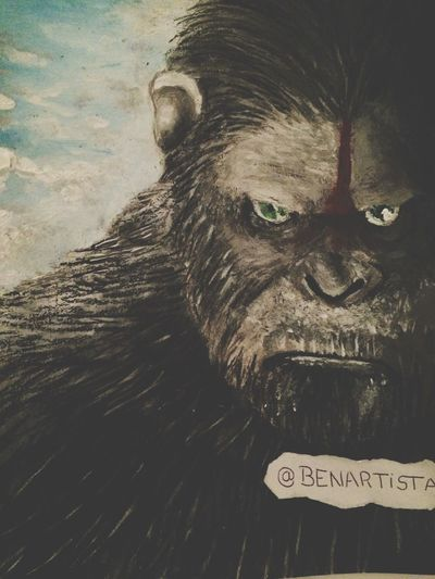 Art Dawn Of The Planet Of The Apes Painting Drawing