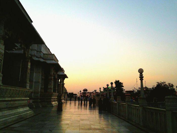Winter Sunset Birla Temple Jaipur