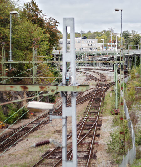 Tracks Graffiti Art Graffiti Nature Taking Over Nature Takeover Green And Brown Shot From Above  Fence Pylons And Power Lines Pylon Electricity  Power Line  Train Tracks Urban Stockholm Rail Yard Shunting Yard High Angle View Public Transportation Transportation Train - Vehicle Train Track Railroad Track Rail Transportation Gh5