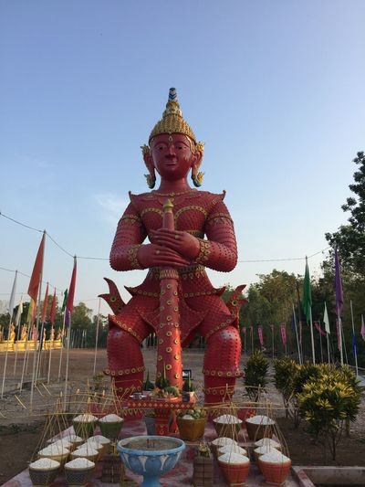 Giant Religion Sculpture No People Sky Day Clear Sky Thailand